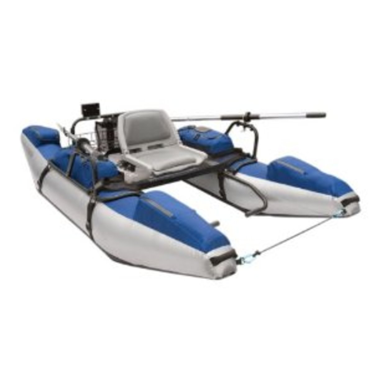 Rogue Fly Fishing Pontoon Boat (Silver/Blue)