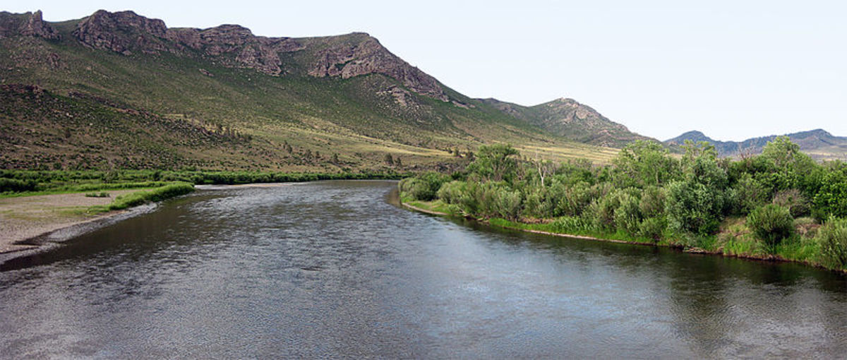 Genghis Khan is said to be buried close to, or beneath, the Onon River.