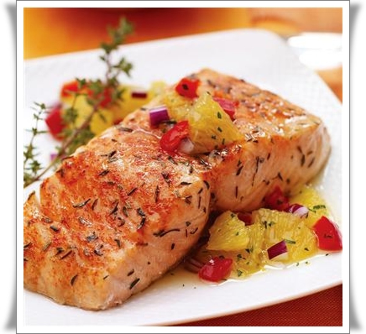 Citrus Salmon with Orange Relish - Photo: Courtesy of McCormick Recipes