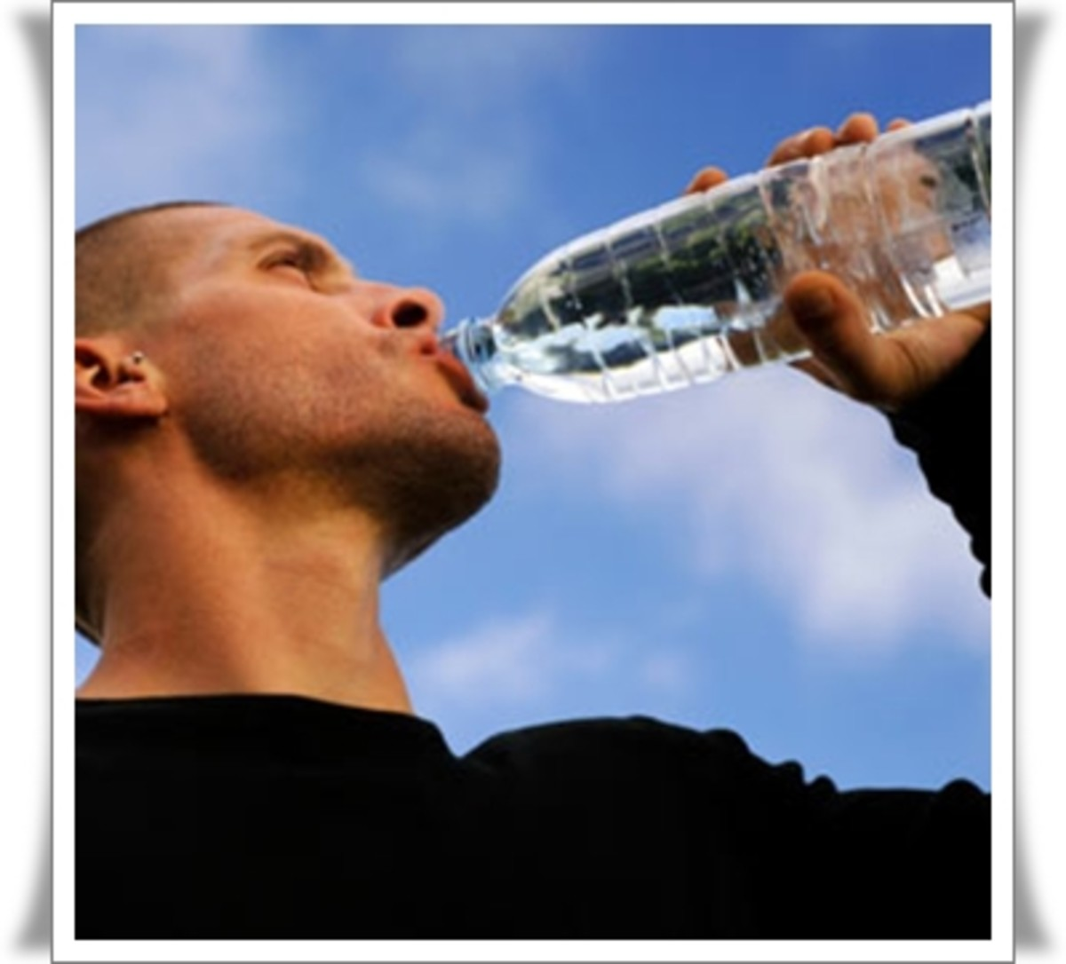 Man drinking water. Photo: Courtesy of liveraid.org