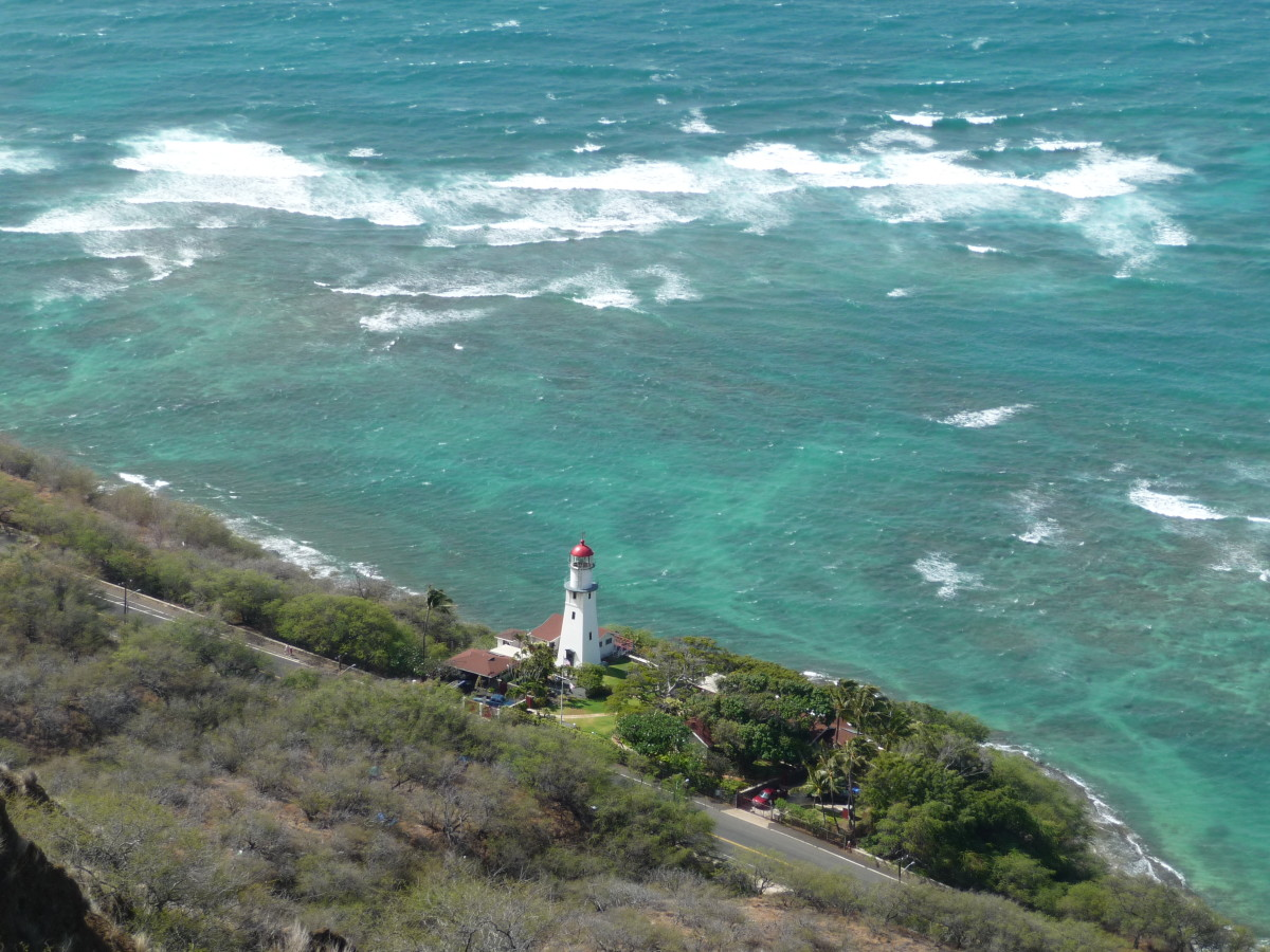 View of the Diamond Head Lighthouse