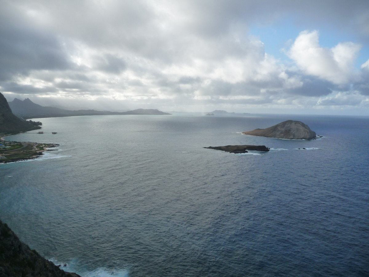 From the top of Makapu'u point overlooking Waimanalo Bay