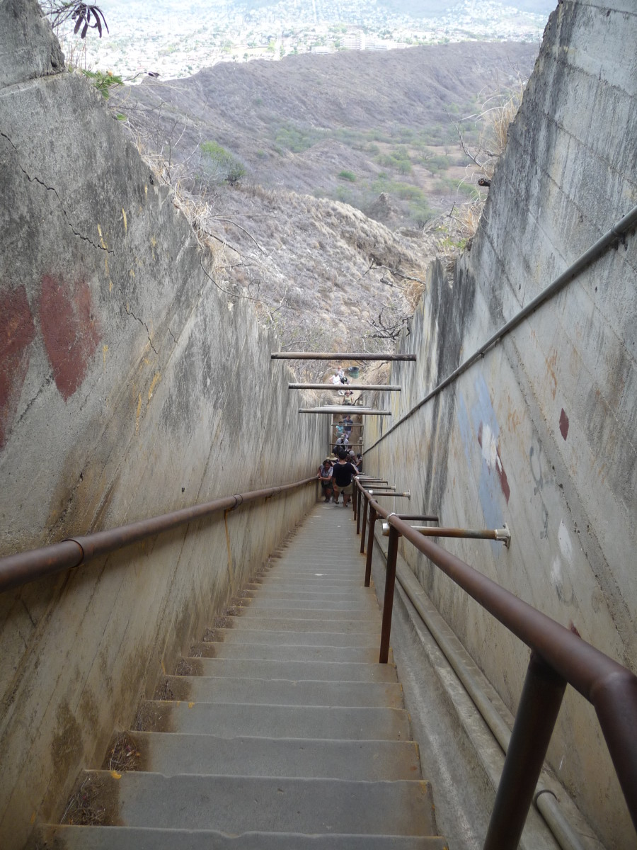 99 Stairs to reach the pinnacle of Diamond Head