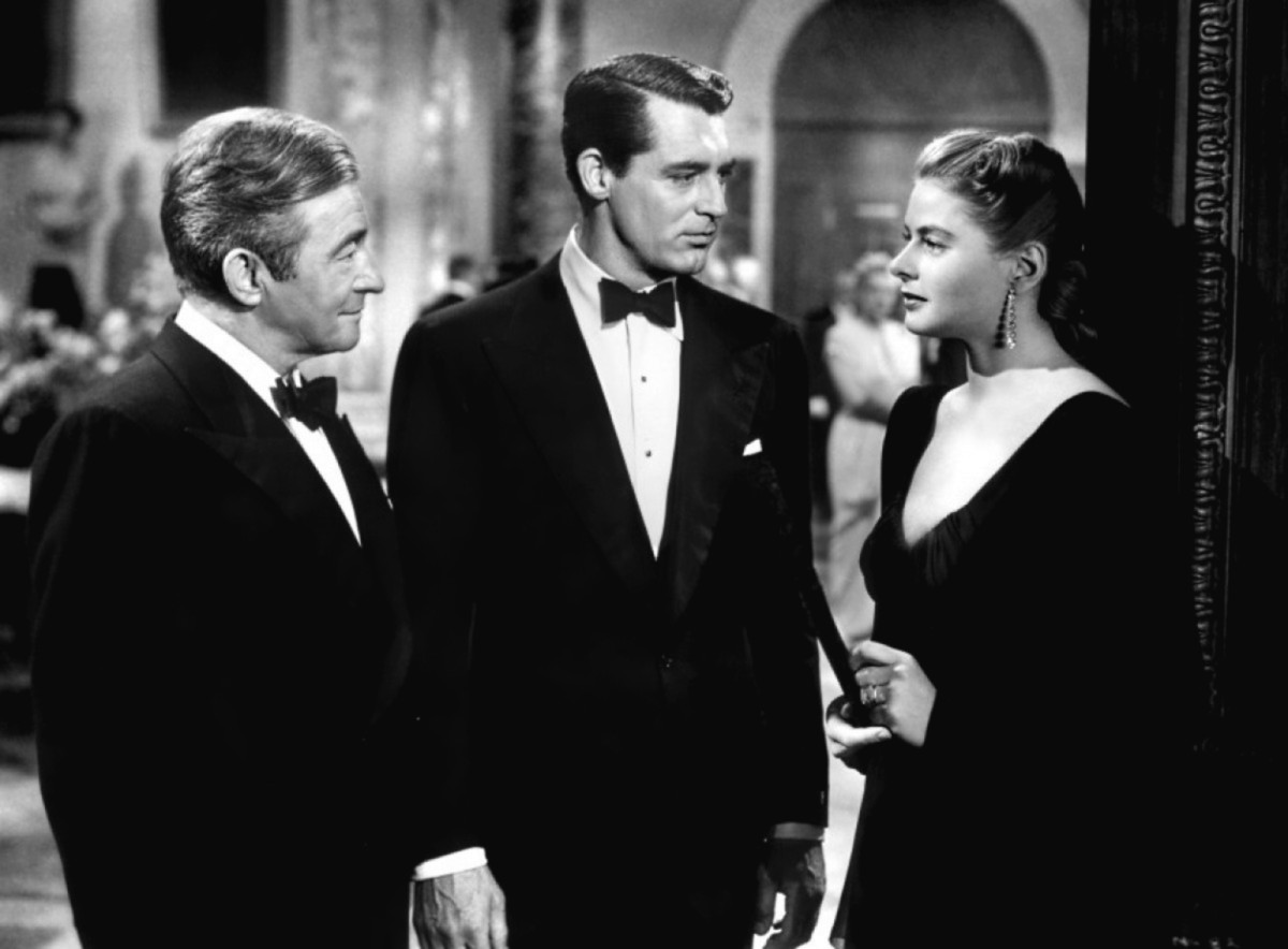 Claude Rains, Grant, and Ingrid Bergman