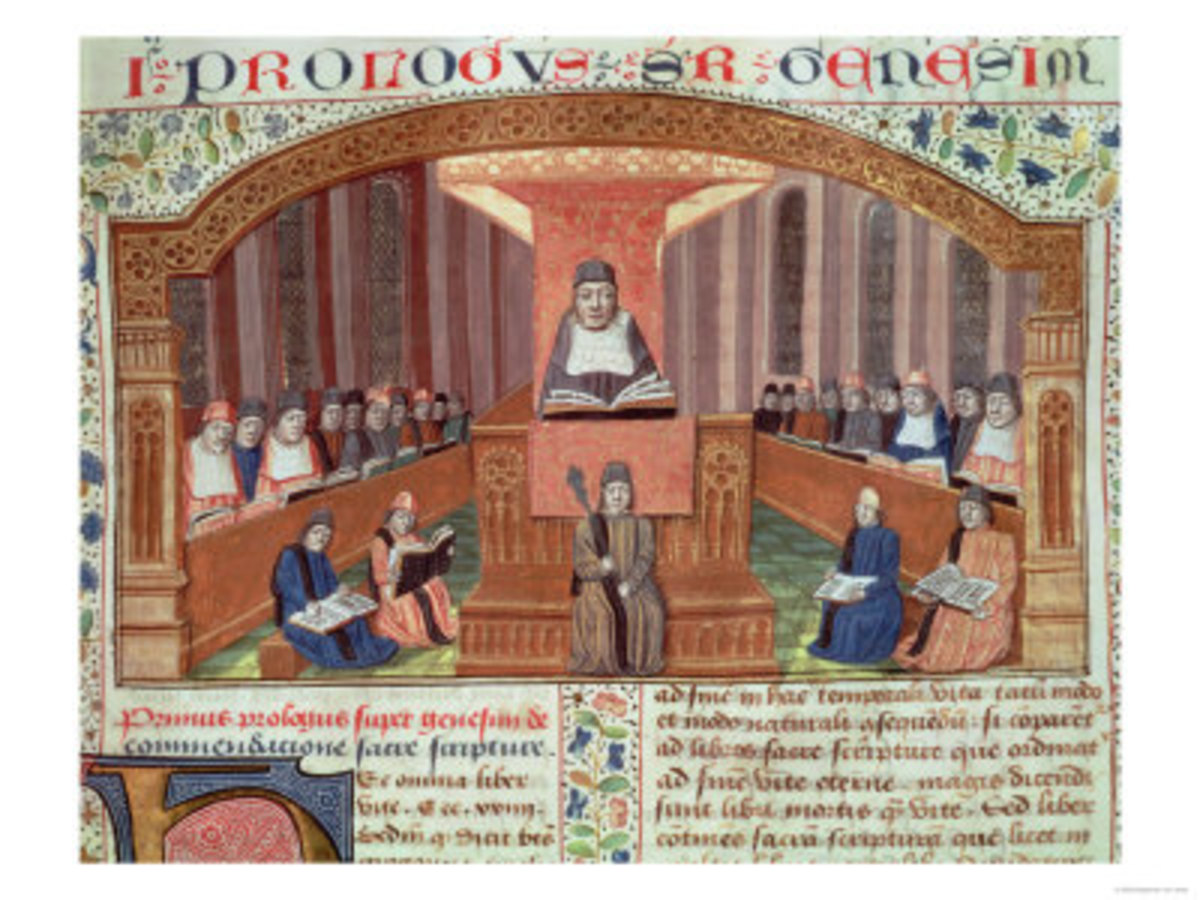 Lesson in Theology at the Sorbonne, Illustration to Text Written by Nicolas De Lyre
