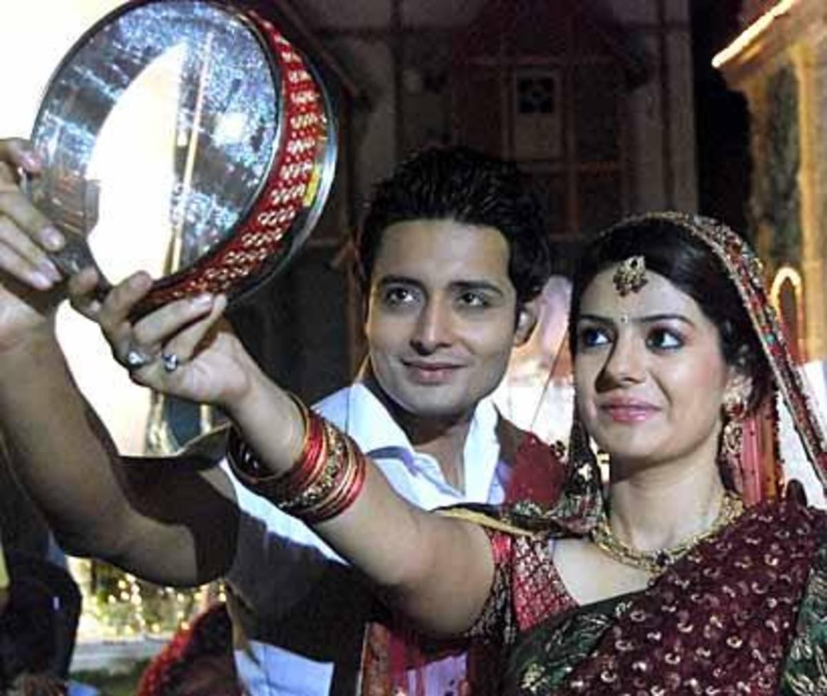 Divya and Siddharth during Karva Chauth