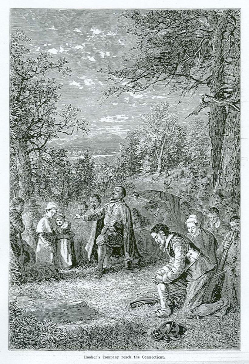 THOMAS HOOKER FOUNDS CONNECTICUT