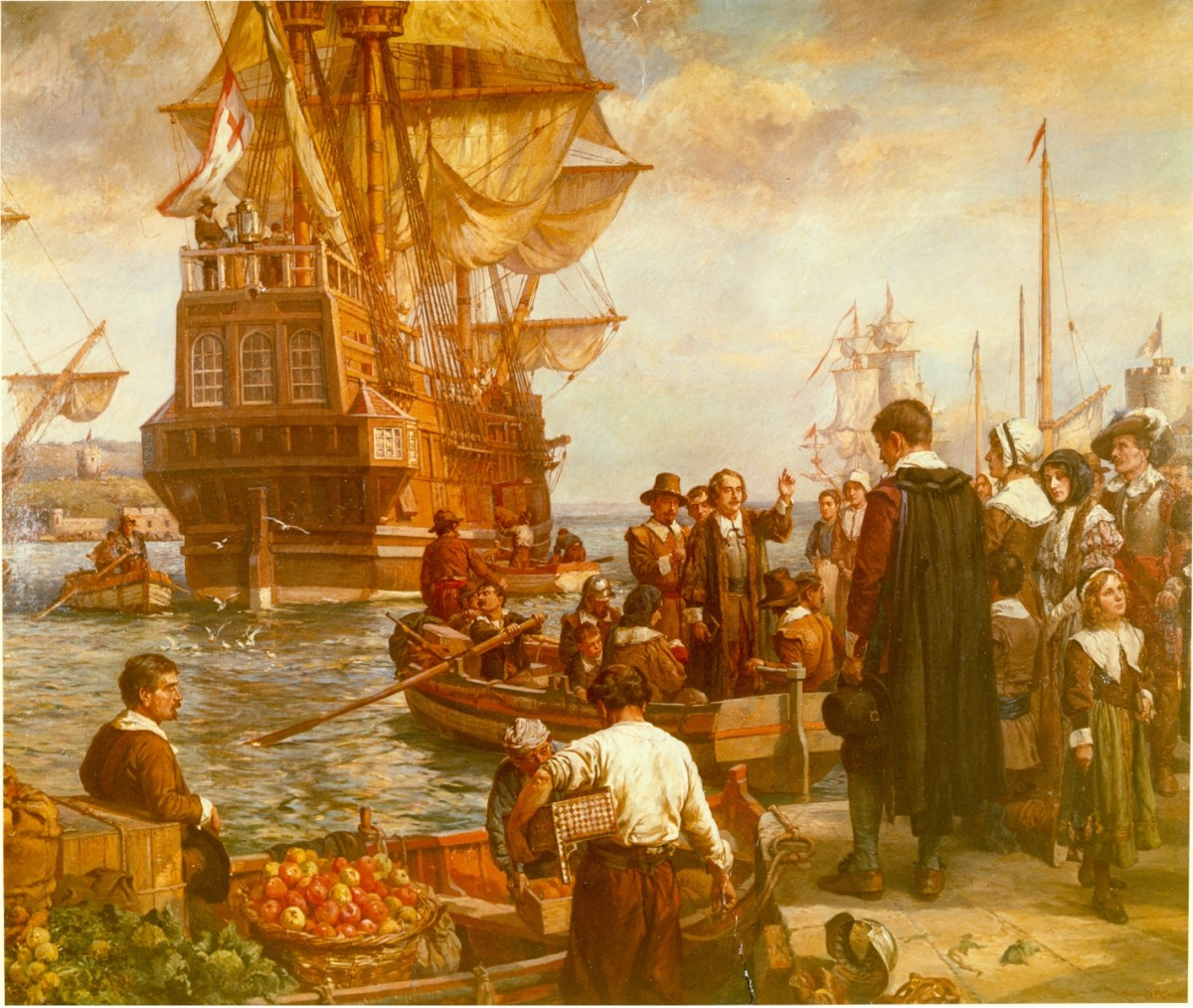THE DEPARTURE OF THE PILGRIMS FROM EUROPE