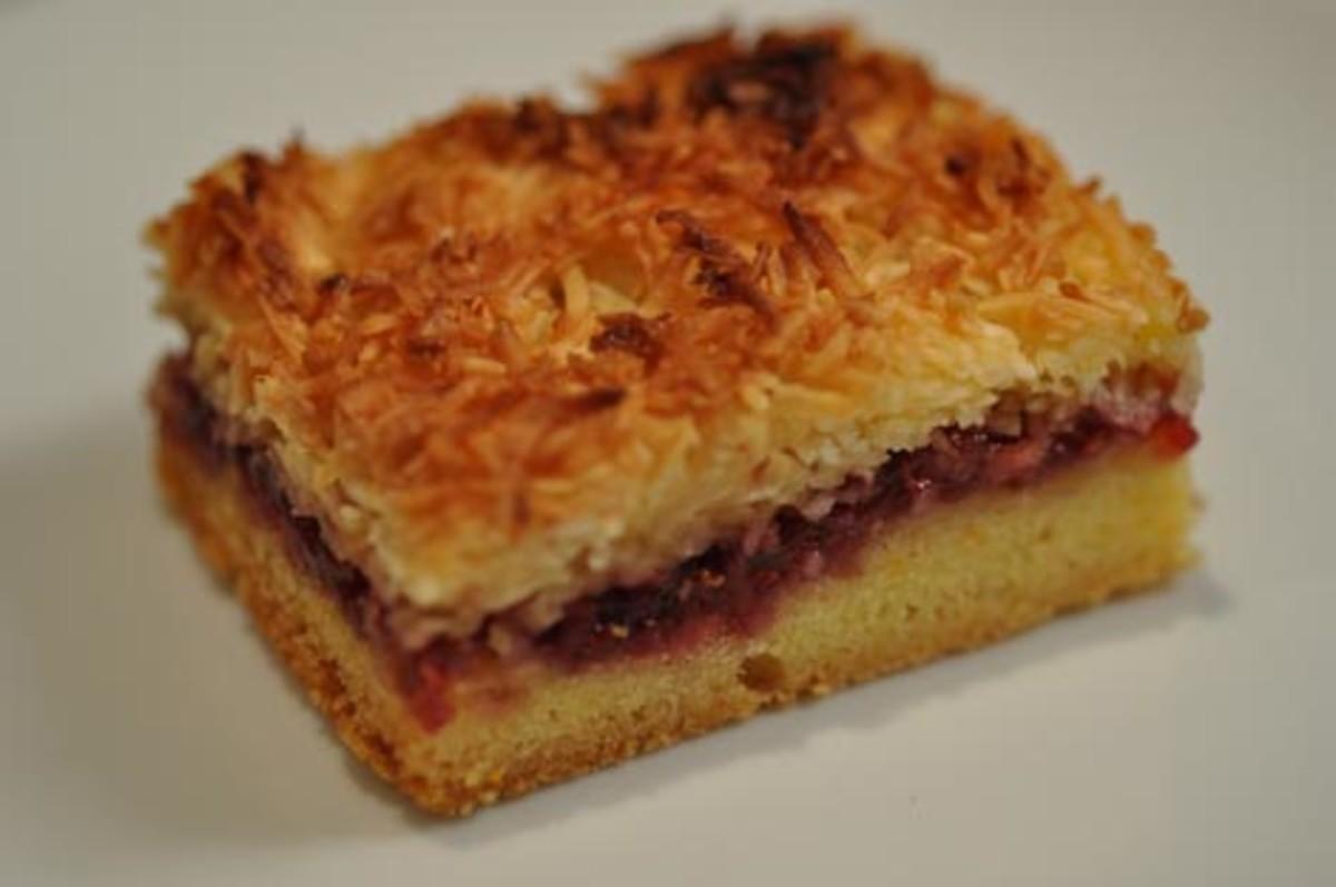 Coconut & Raspberry Jam Slice Image:  Siu Ling Hui