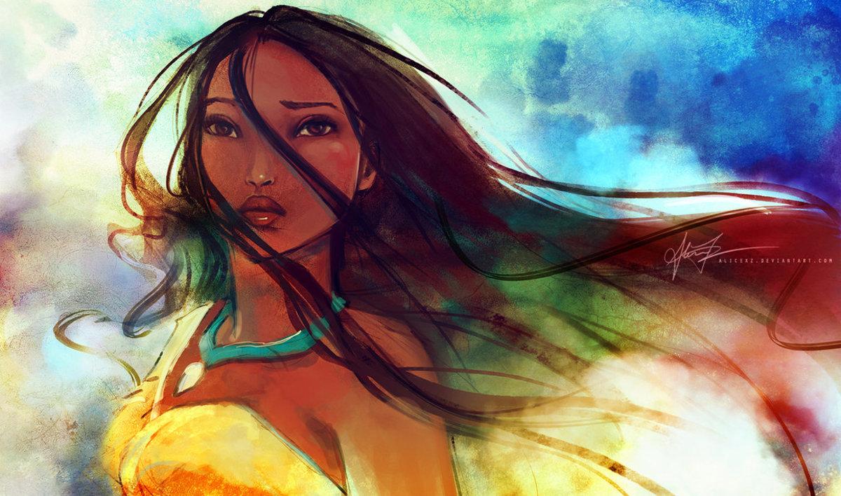 Free Pocahontas Wallpaper ~ by alicexz