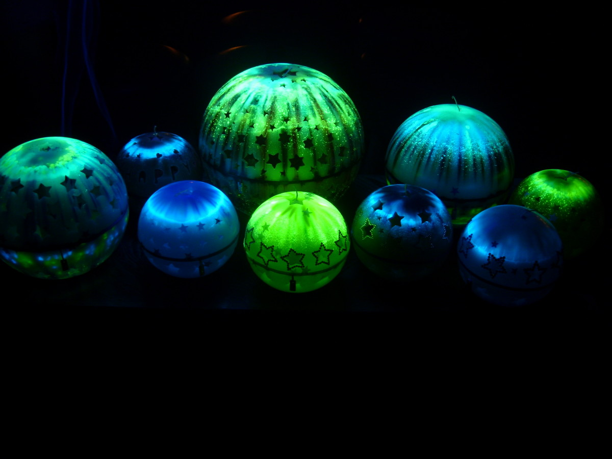 Glow in the Dark Luxury Handmade Candles