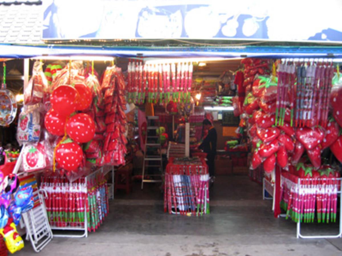 A strawberry souvenir shop in Tanah Rata.