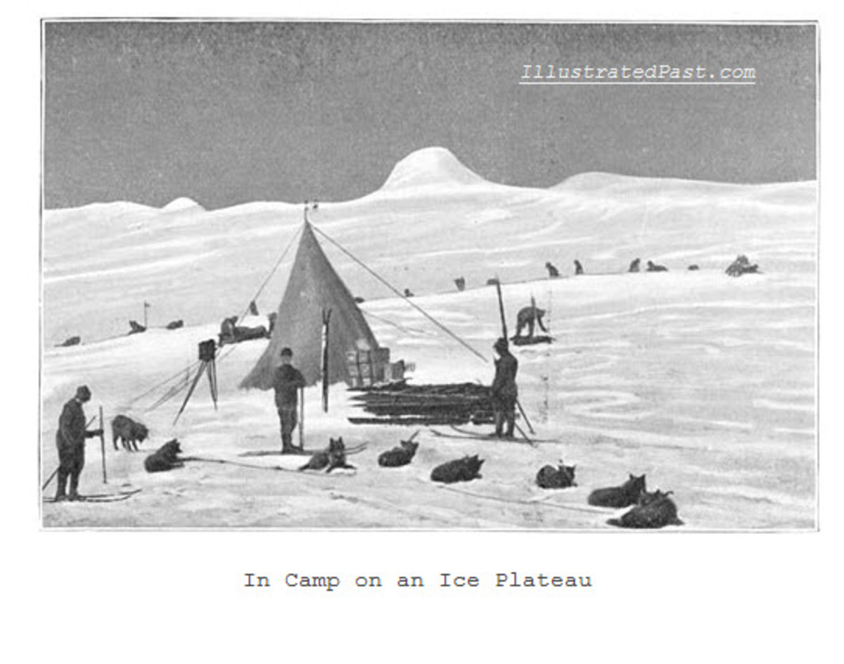 Making Camp Atop an Ice Plateau