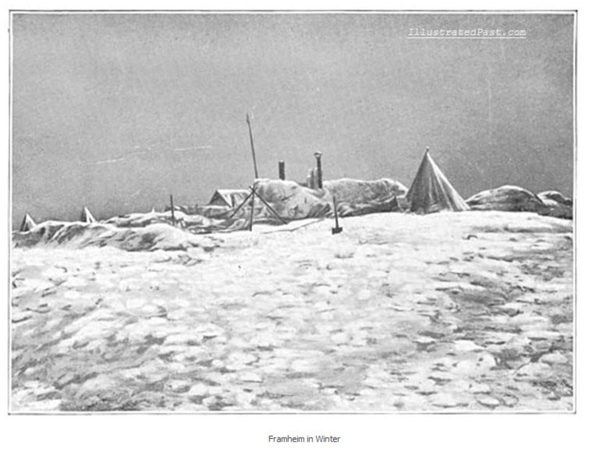 A Cold Winter Scene in Antarctica