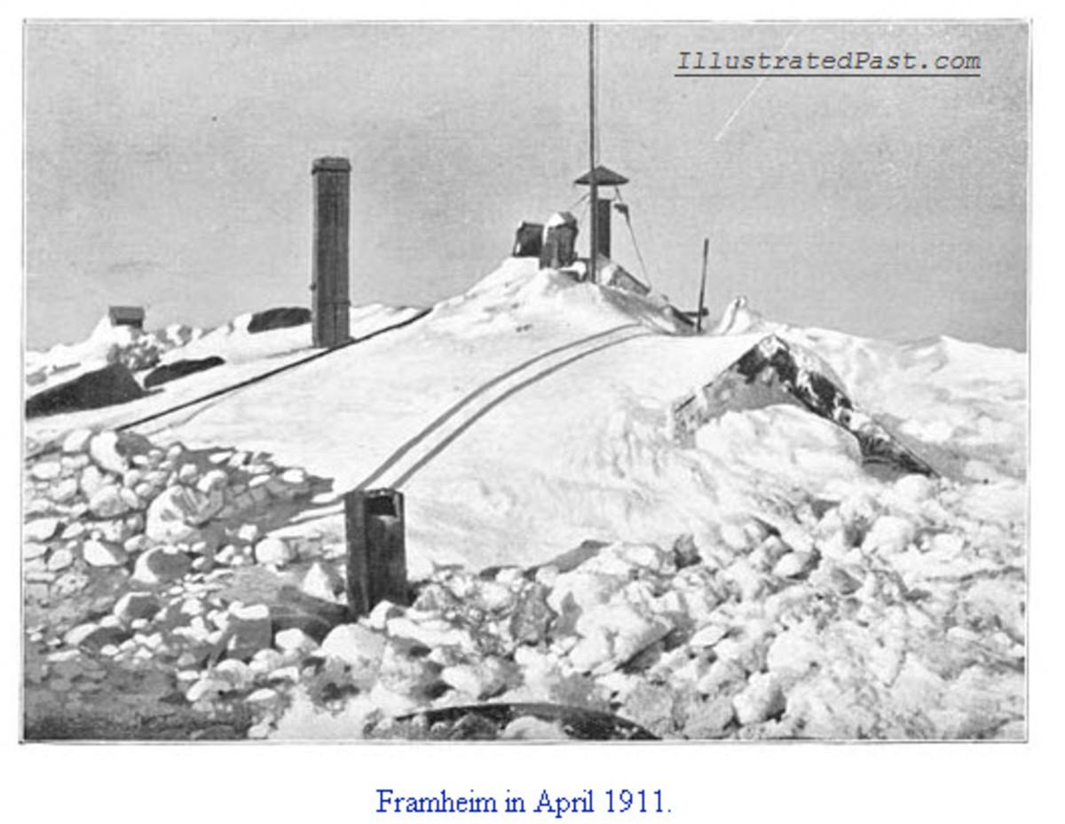 Framheim Buried in Snow