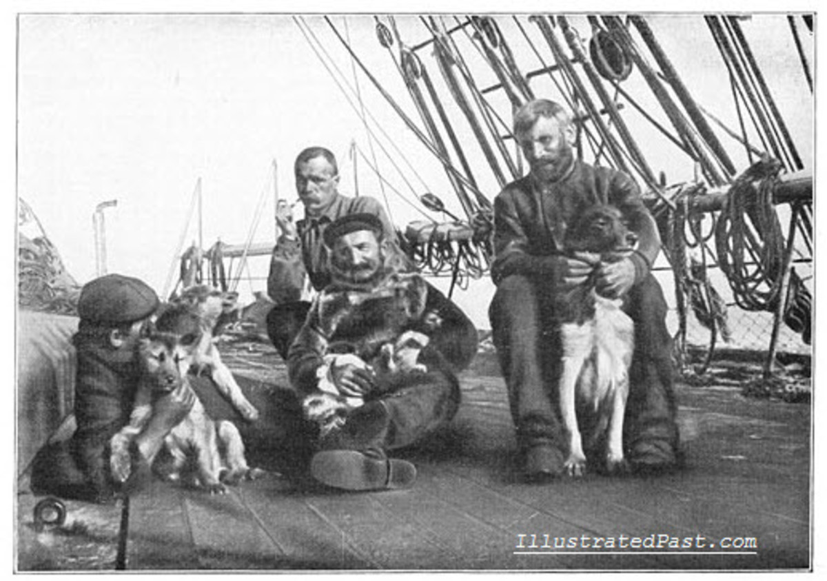Human and Canine Members of the South Pole Expedition