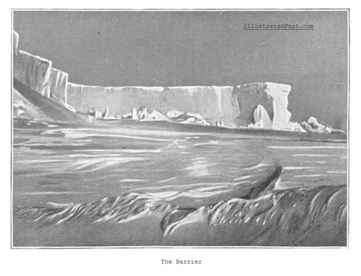 The Barrier - This great ice barrier blocked the way inland from the coast. It had to be traversed in order to reach the South Pole.