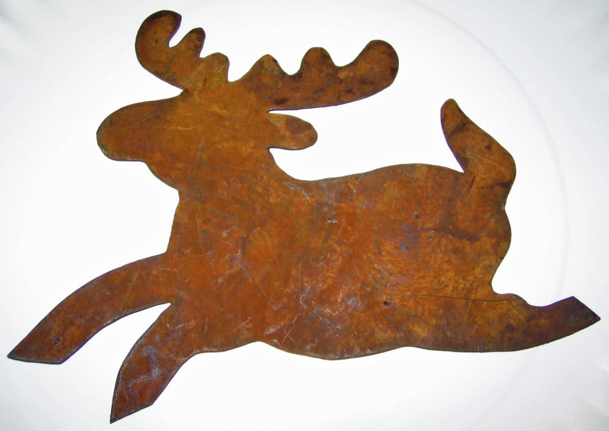Rustic Tin-tique Reindeer