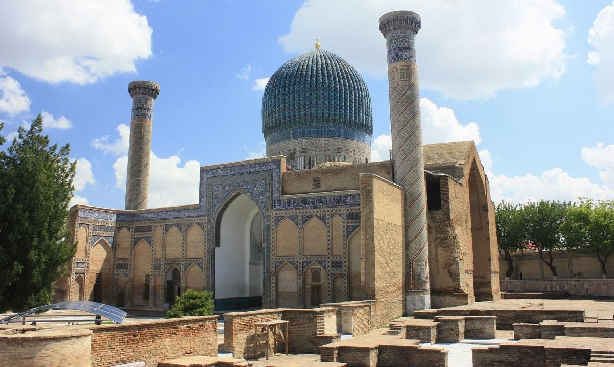 Tamerlane's tomb in Samarkand, Uzbekistan.
