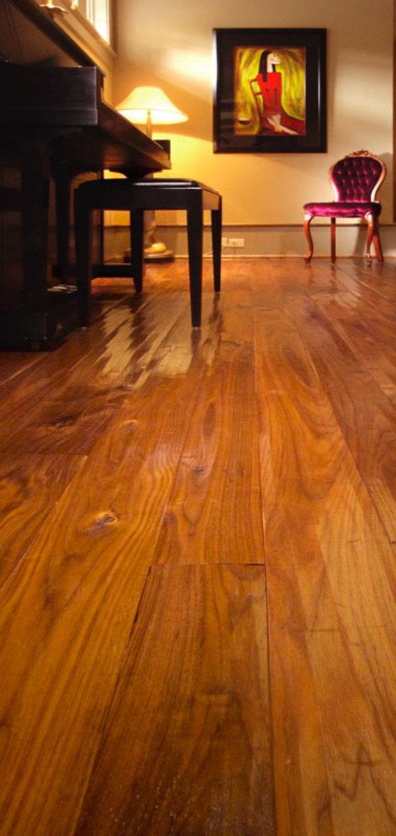 Walnut Music room flooring