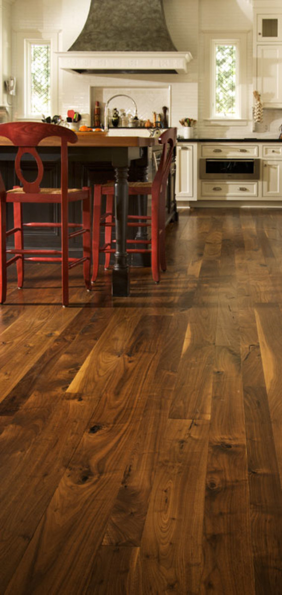 Walnut kitchen flooring
