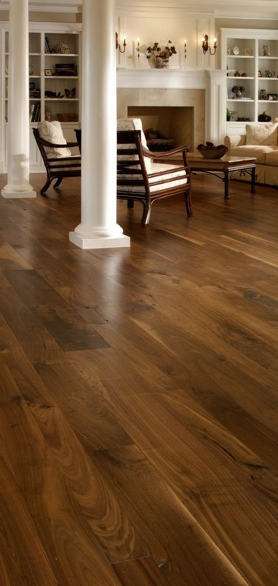 Walnut living room flooring