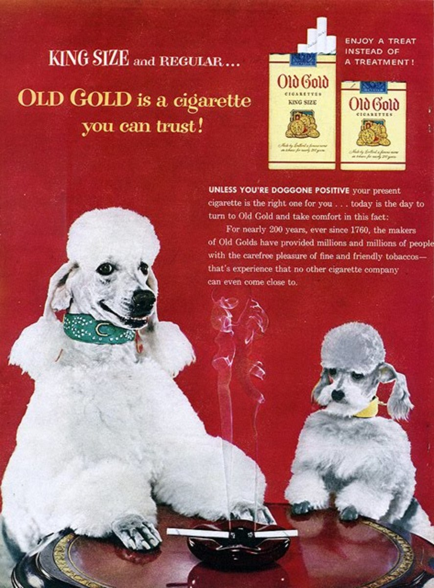 1954 ad. Because Poodles can sell anything.