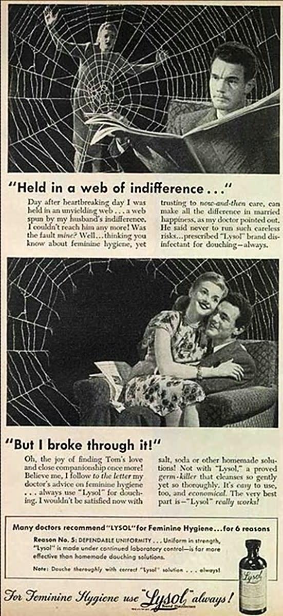 Spiderweb? Lysol? Feminine Hygeine?!!