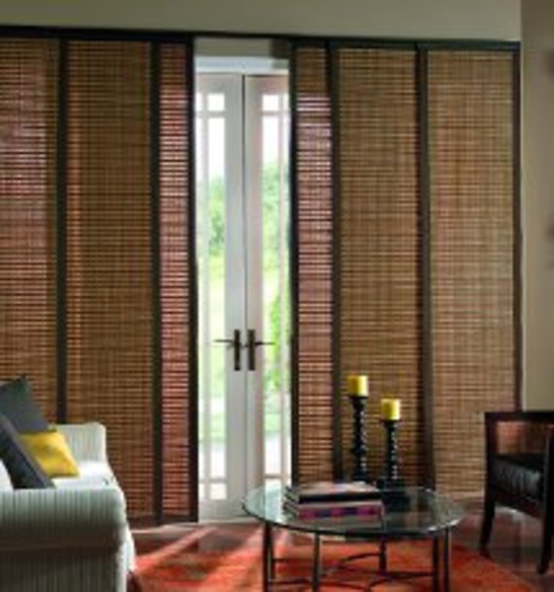 Bamboo Shades Sliding Panels for Patio Door