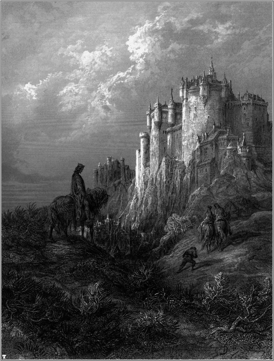 """IDYLLE OF THE KING"" FROM ""CAMELOT"" FOR ALFRED LORD TENNYSON BY GUSTAVE DORE"