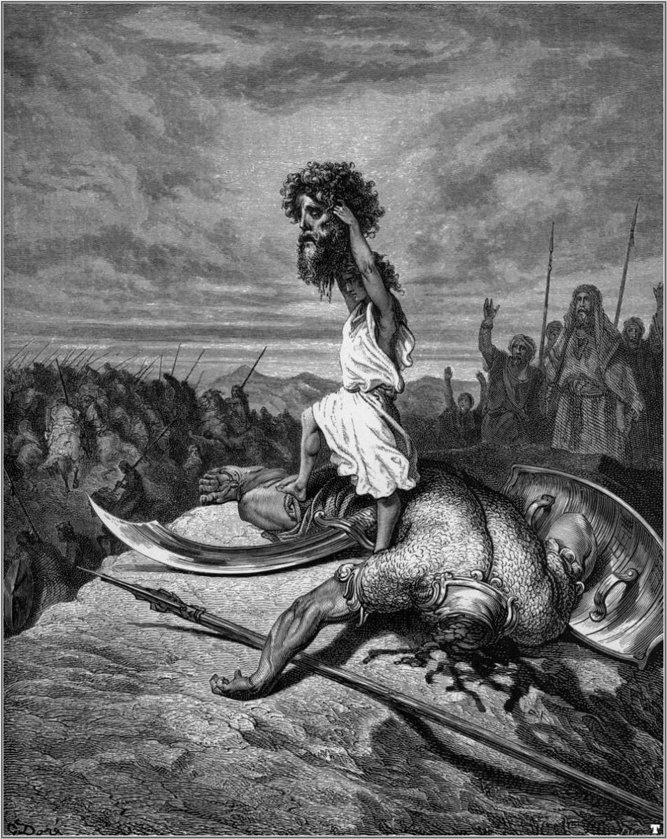 """DAVID AND GOLIATH"" BY GUSTAVE DORE"