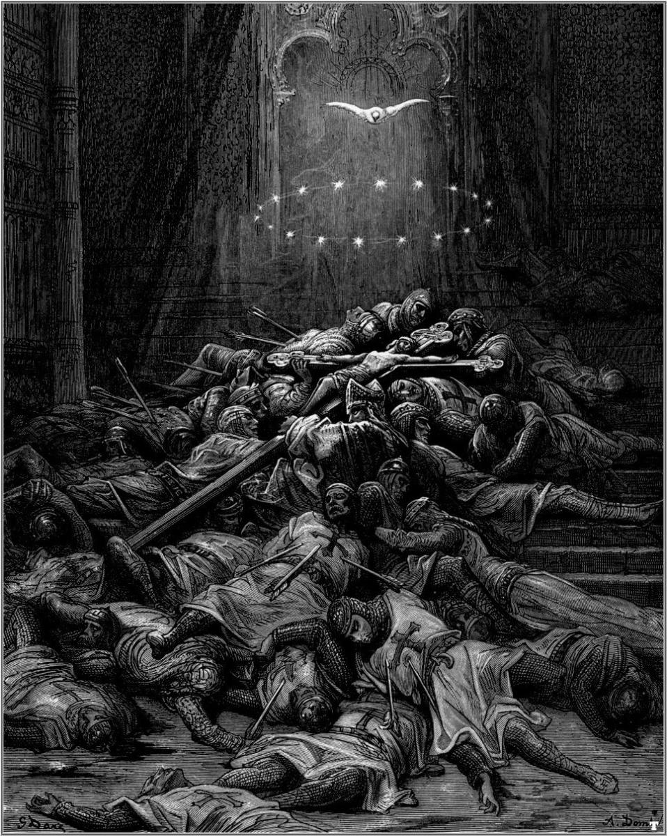 """A CELESTIAL LIGHT"" FROM ""THE CRUSADES"" BY GUSTAVE DORE"