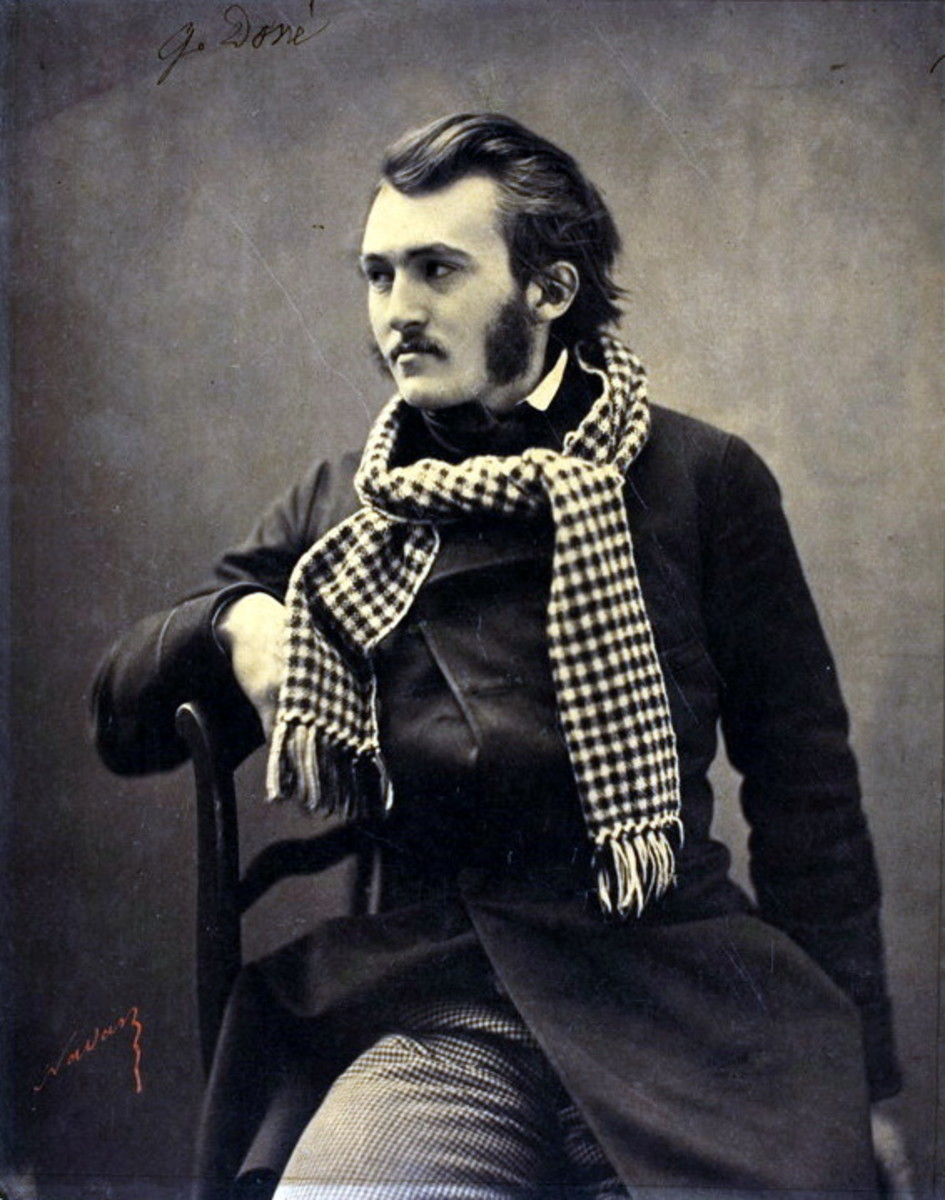 GUSTAVE DORE PHOTOGRAPHED BY FELIX NADAR IN 1857