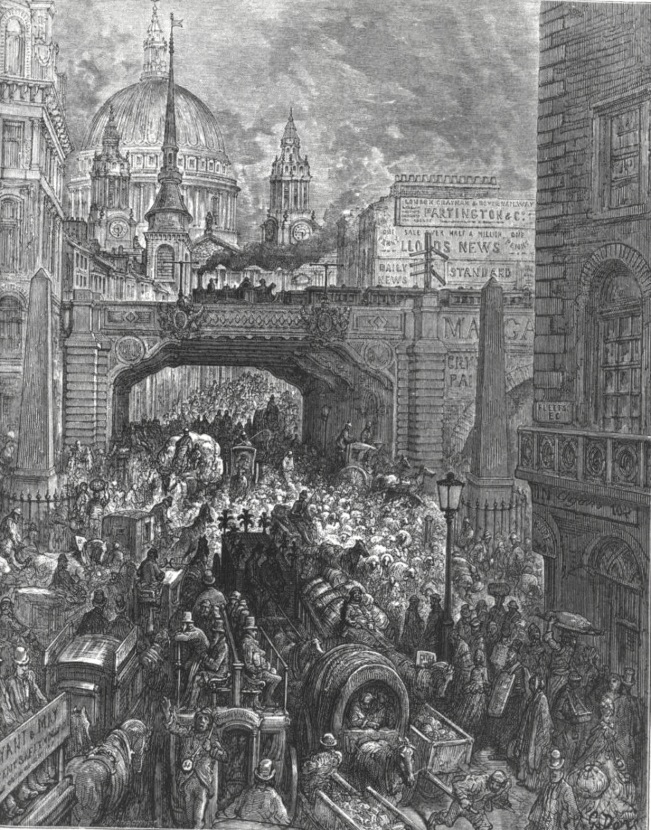 """LUDGATE HILL, LONDON"" BY GUSTAVE DORE"