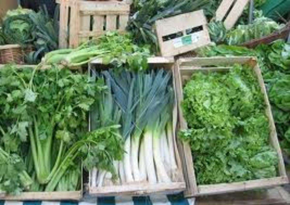 Green leafy vegetables