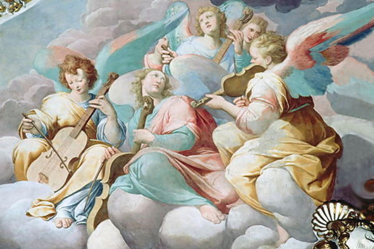 """Angel Musicians from the Vault of the Choir"" - by Camillo Procaccini"