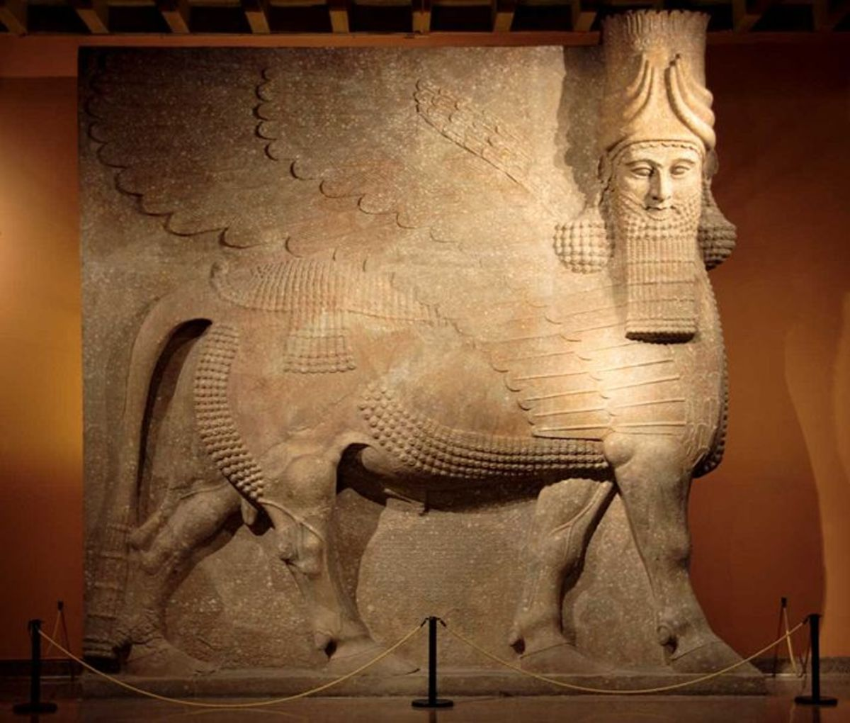 Assyrian Lamassu (Sedu) from the throne room of King Sargon II (721-705 B.C) - Oriental Institute Museum - University of Chicago