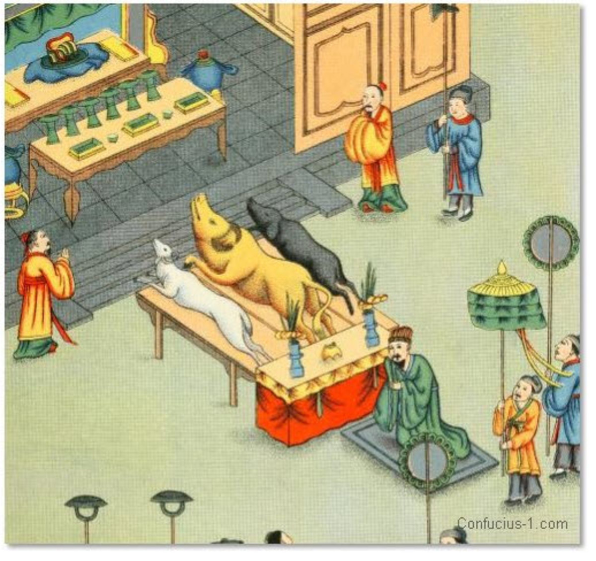 Sacrifices Are Offered to Confucius After His Death