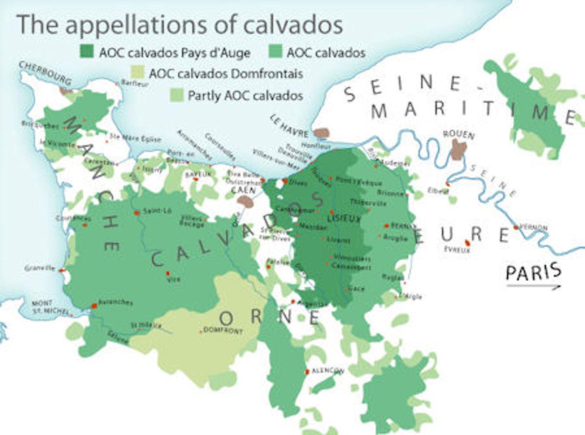 Calvados region in Normandy, France