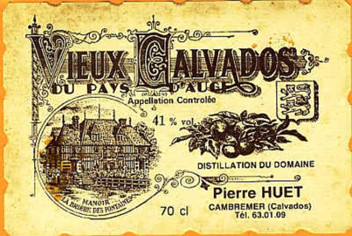 Huet Vieux Calvados Label