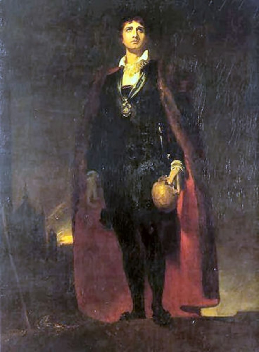 Painting of Hamlet