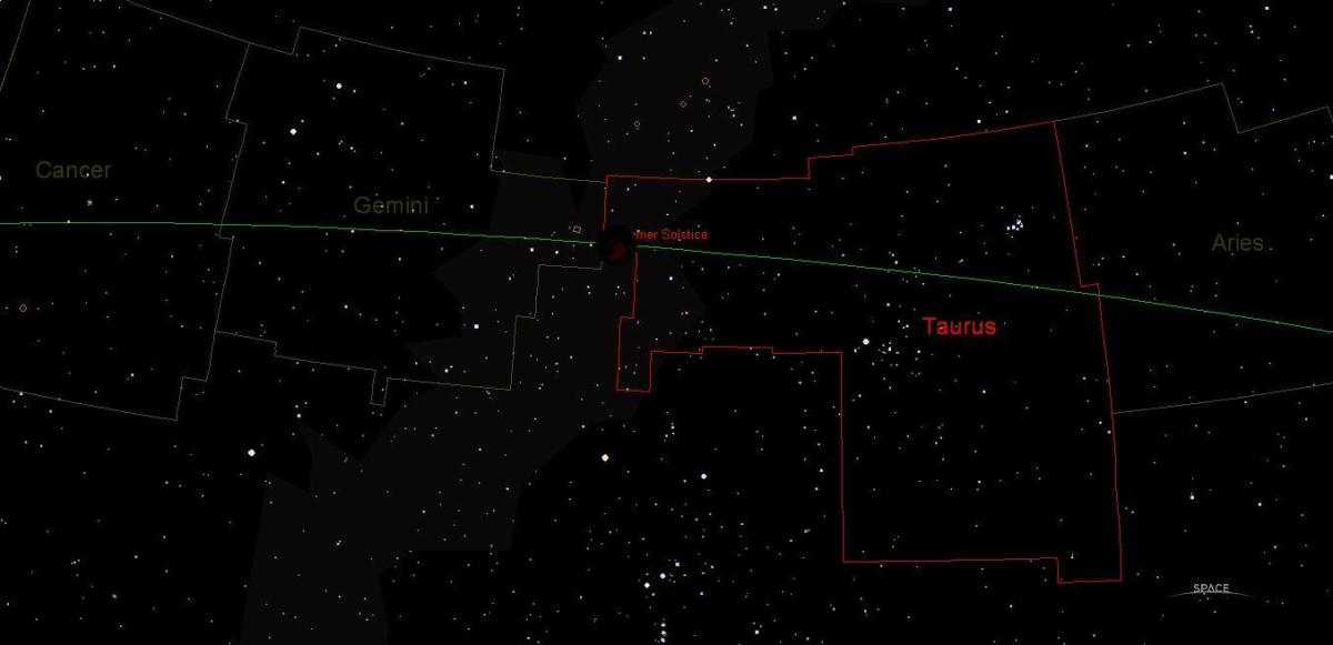 Compare this astronomical program generated plot to the real time event photographed above by a wilderness astronomer.