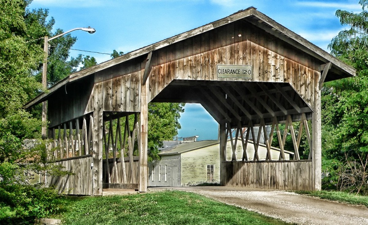 Covered bridge in Cook, Nebraska