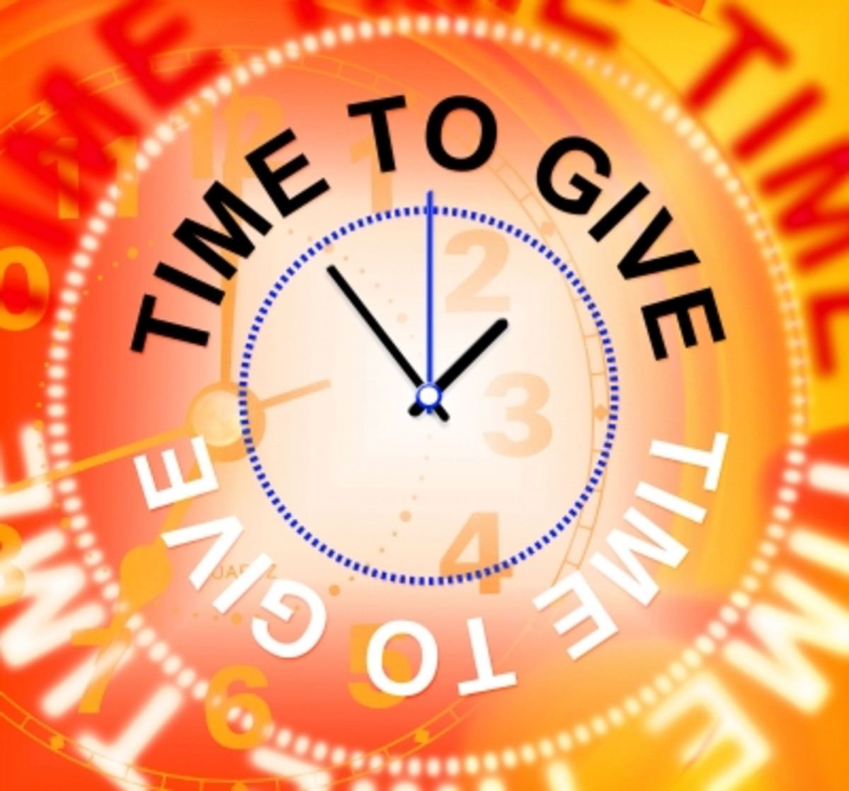 """Time To Give Means Gives Bestow And Donating"" by Stuart Miles"