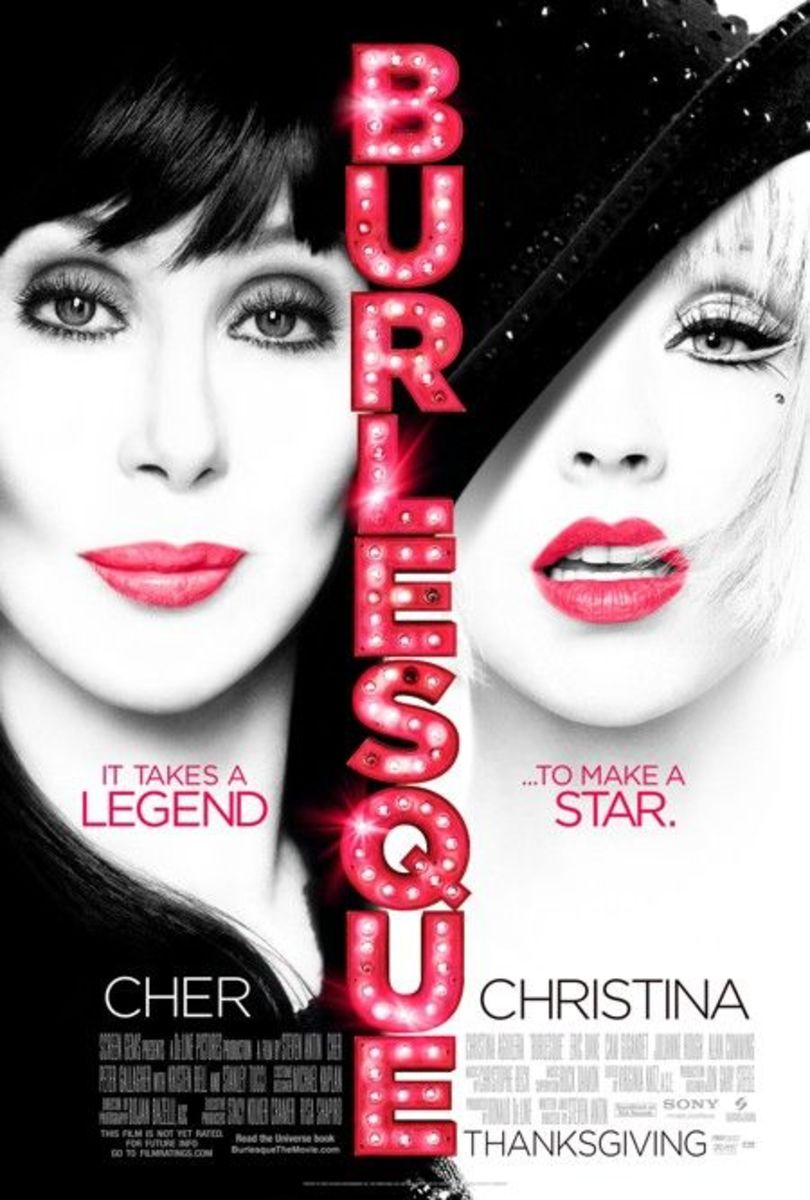 Burlesque Dance Lingerie and Stockings Movie Starring Christina Aguilera and Cher