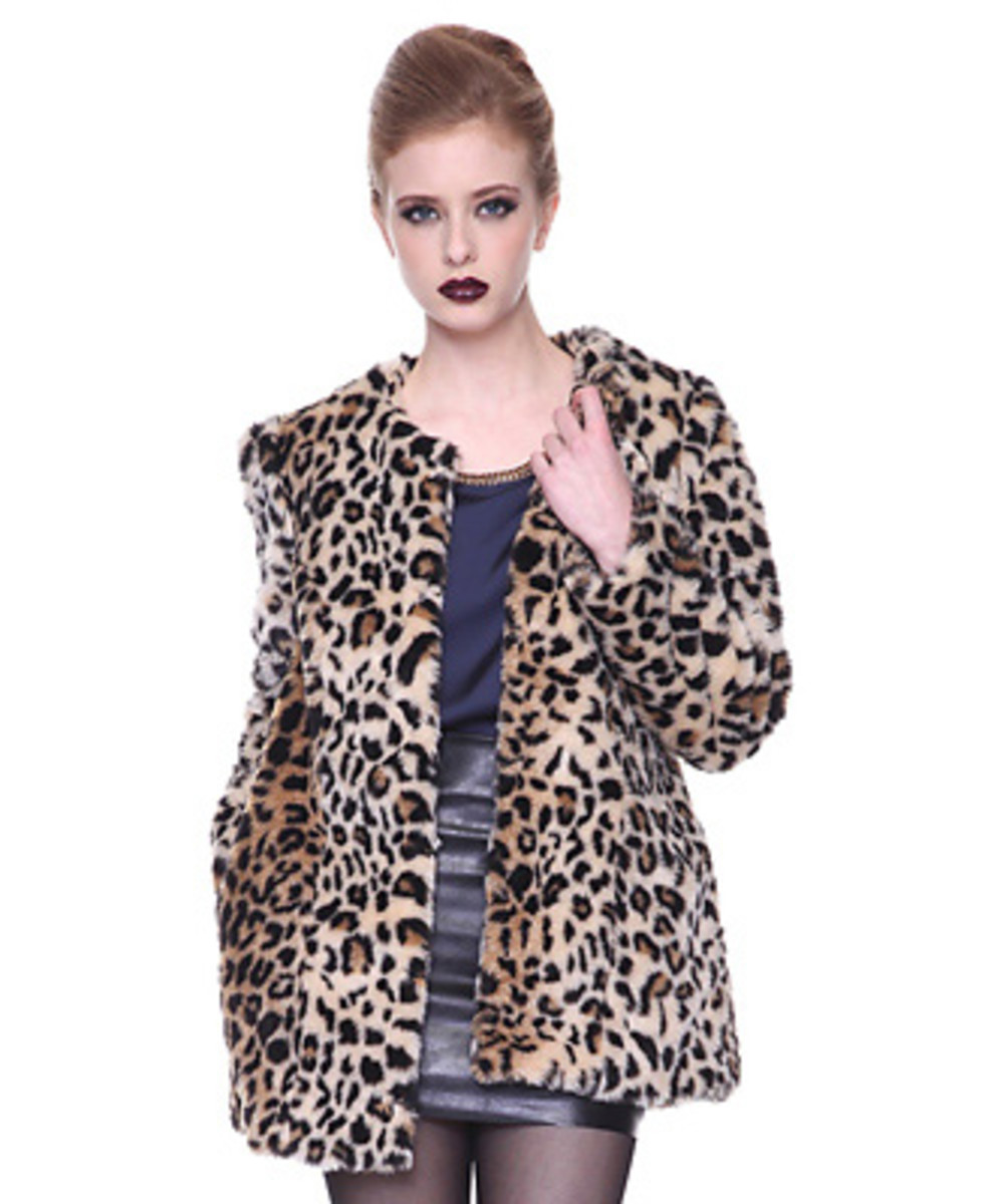 Leopard print coat at Forever21.com for less than $50.00!