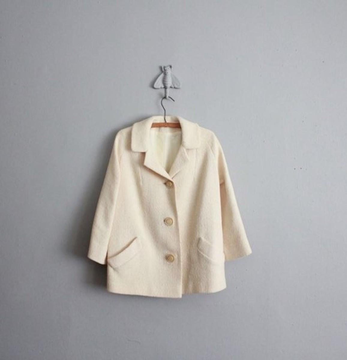 Vintage Vanilla Coat for sale by Allen Company Inc on etsy.com