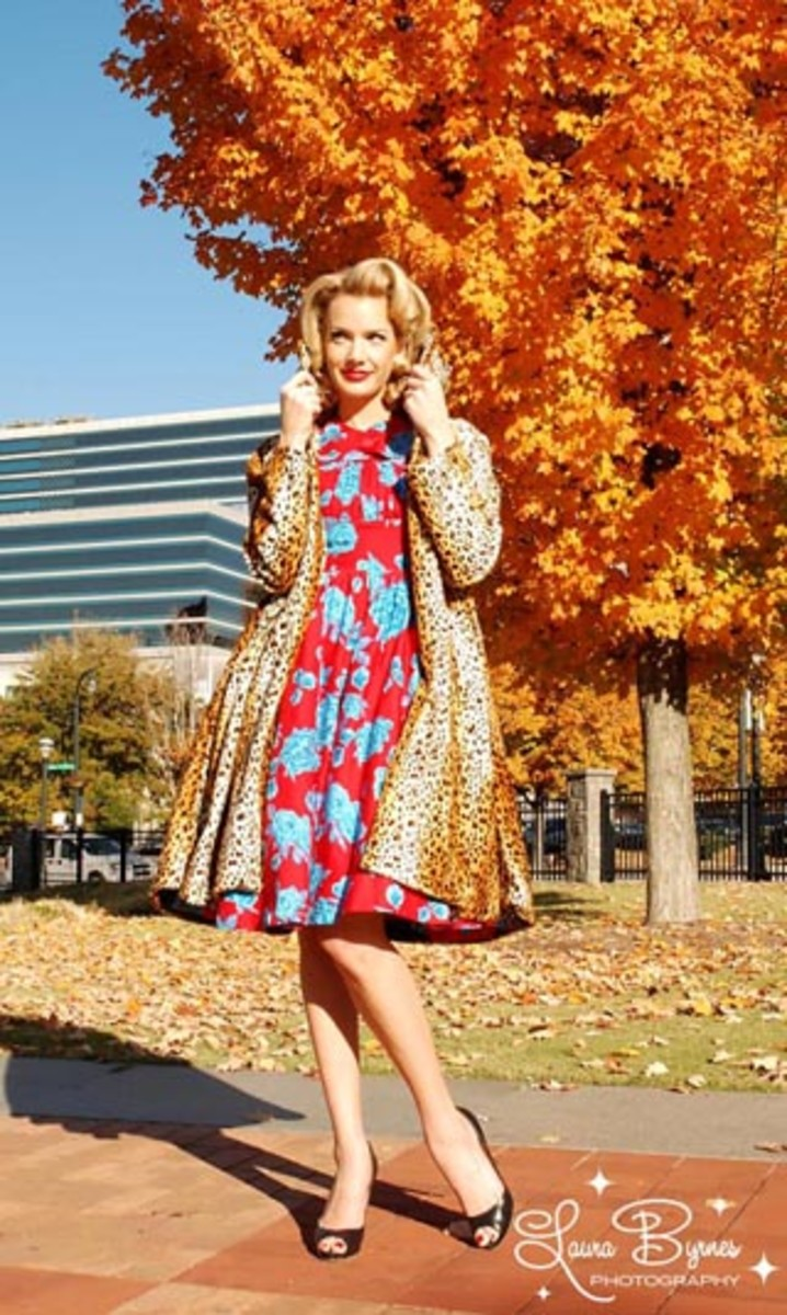 Cheetah Car Coat for $150.00 at pinupgirlclothing.com.