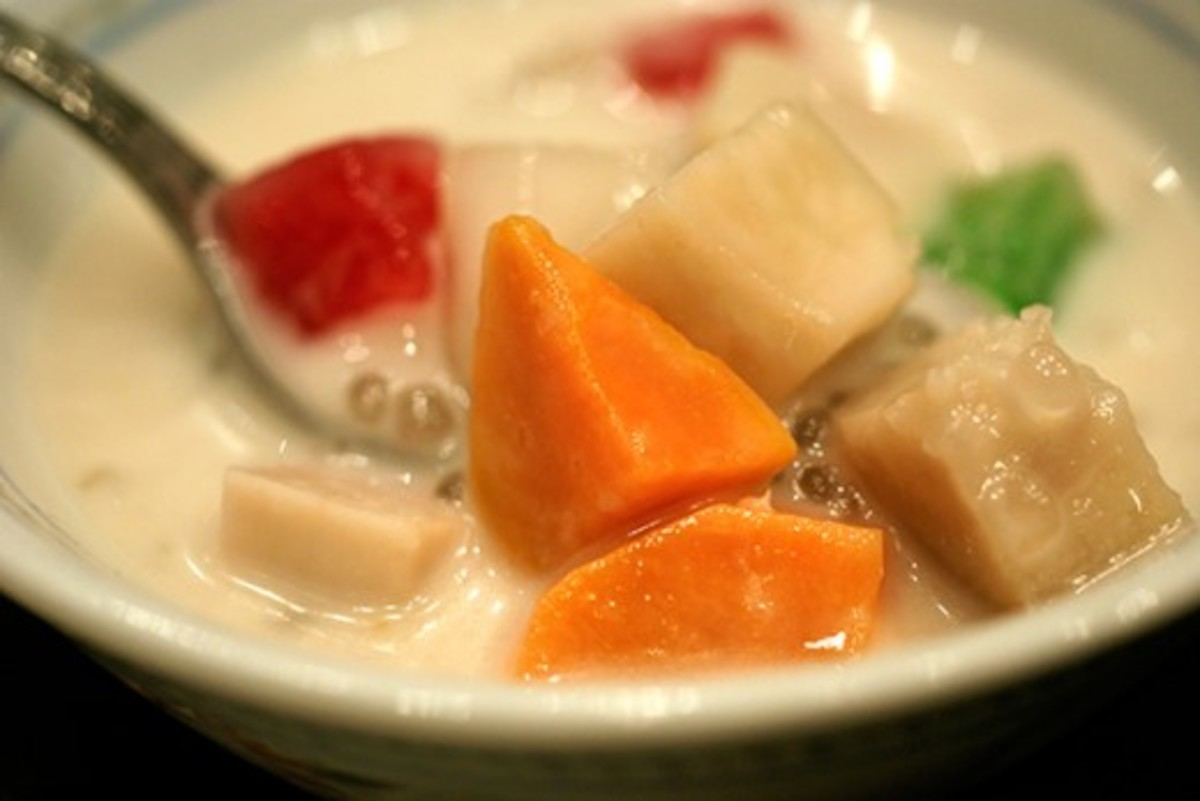 Sweet Potato and Taro (Yam) Soup Dessert