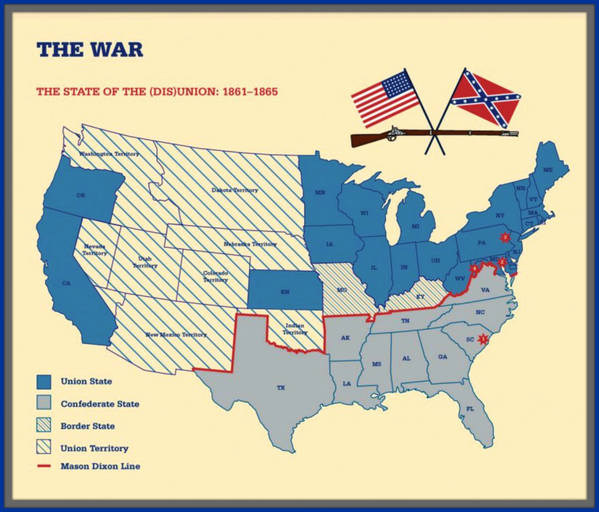 In the Rise and Fall of the Confederate Government by Jefferson Davis, you can realize as you read about the struggle that the lopsided balance of power soon gave the Southern States a disadvantage. The North had more territory, Factories, & people.